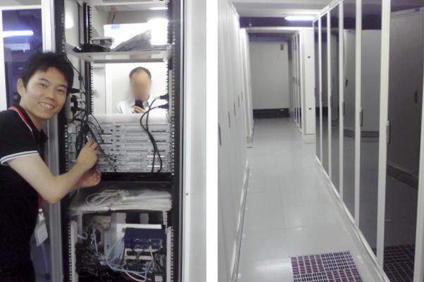 データセンターの利用開始を記念して撮影。サイトの成長とともに、サーバーも強化し続けている